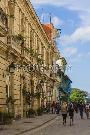 cuba havana old havana buildings along