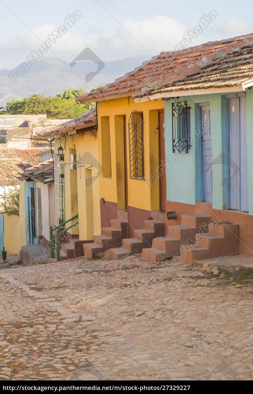 cuba, , trinidad, , cobblestone, street, , trinidad, and - 27329227