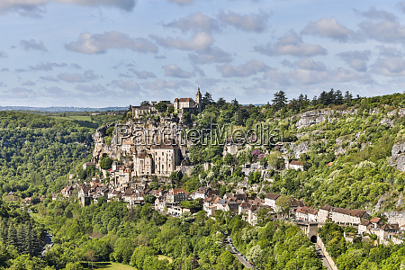 france rocamadour cliffside view of the