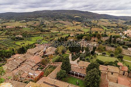 italy tuscany siena san gimignano small