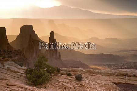 usa utah canyonlands national park view