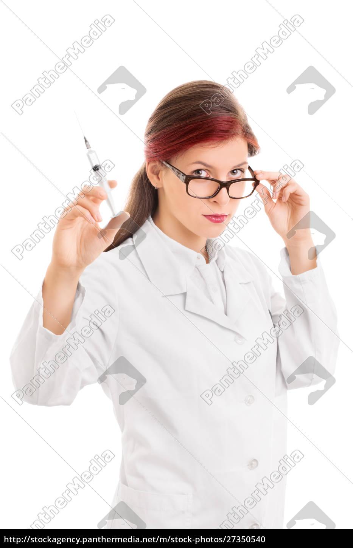 medico, in, possesso, di, una, siringa - 27350540