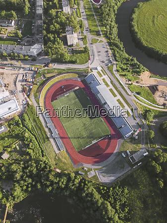 veduta aerea dello stadio sportivo tikhvin