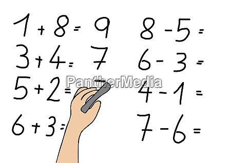 disegno del bambino di calcolo degli