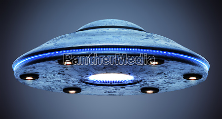 percorso, di, ritaglio, dell'oggetto, volante, ufo - 27372606