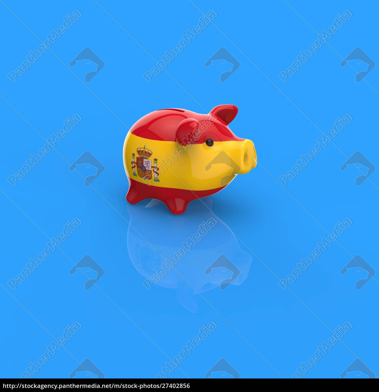 piggy, bank, -, 3d, illustration - 27402856