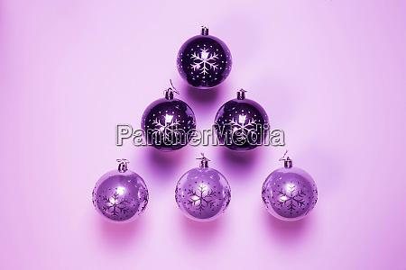 purple christmas ornament christmas balls in
