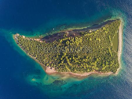 veduta aerea dellisola isolata trizonia vicino