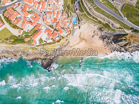 vista aerea sopra azenhas do mar