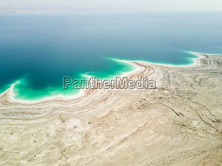 veduta aerea del mar morto