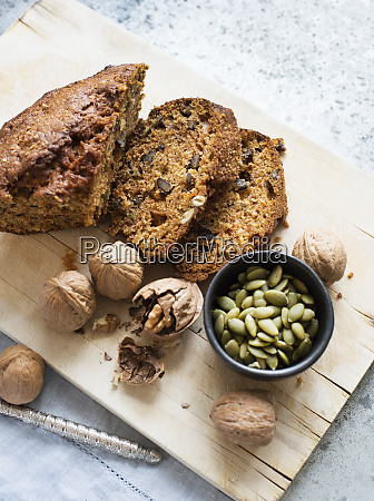 natura morta di torta di semi