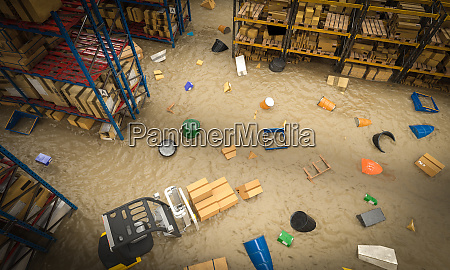 interior of a warehouse full of