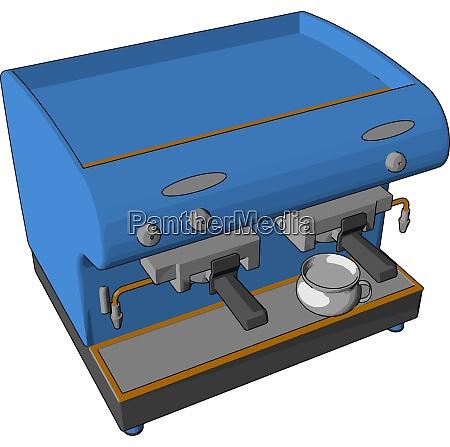 vettore distributore automatico di colore blu
