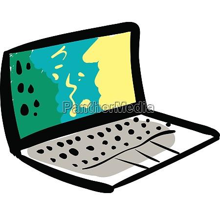 vettore di illustrazione del notebook su