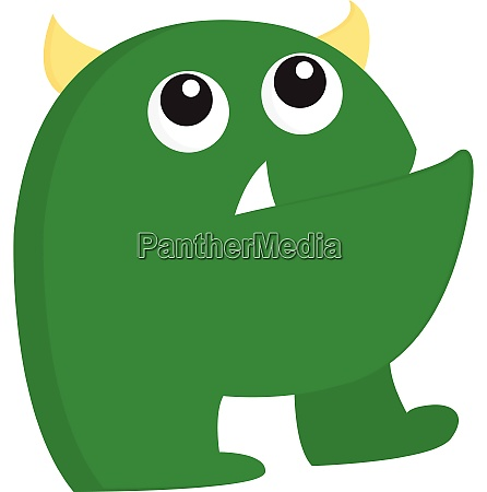 a ugly green monster vector or