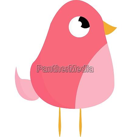 pink bird with yellow legs vector