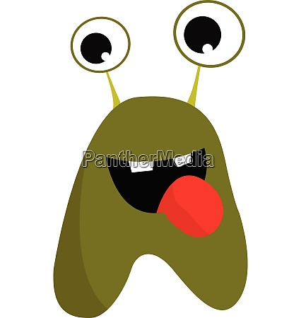 green monster with tongue vector or