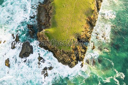 veduta aerea di bare bluff sandy