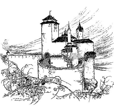 ma intorno al castello una siepe