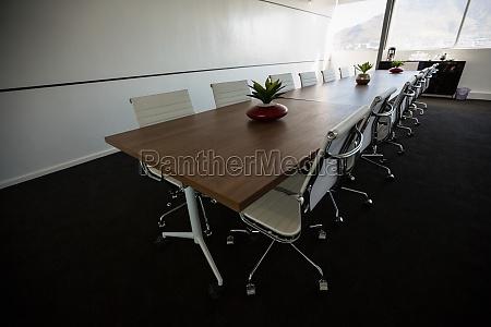 tavolo conferenze in una sala riunioni