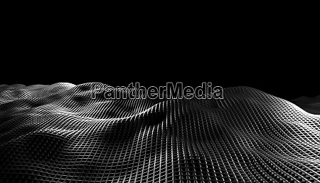 abstract waves on a black background