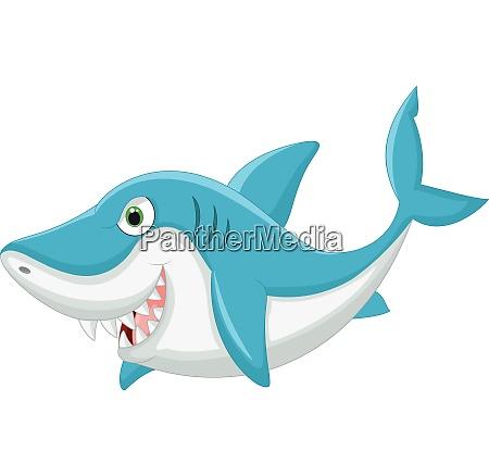 illustrazione dei cartoni animati degli squali