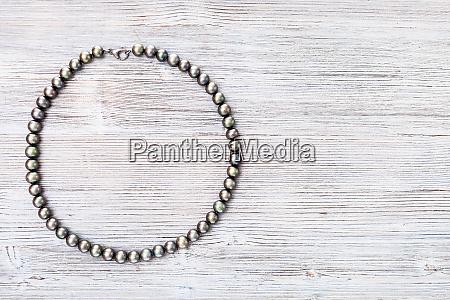 top view of natural black pearls