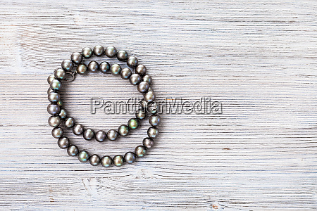 top view of coiled natural black