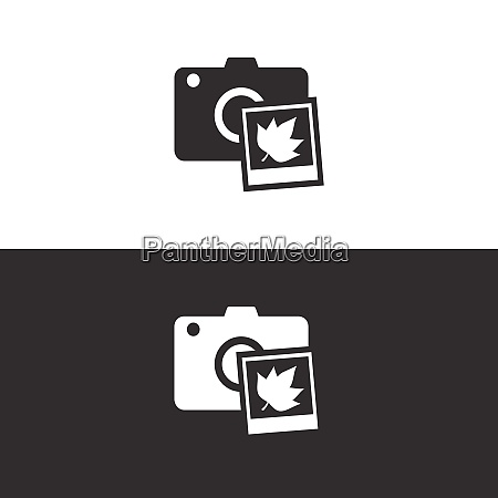 camera and fall photography icon on
