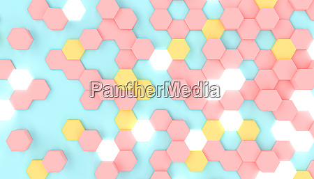 3d render image of a geometric