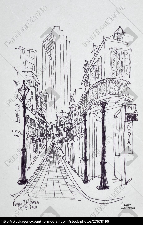 edifici, storici, lungo, canal, street, quartiere, francese, new - 27678190