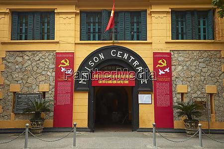 entrance to hoa lo prison museum