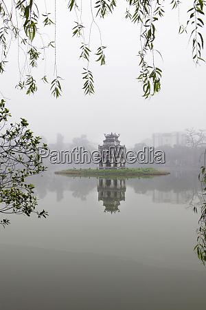 hanoi lake hanoi north vietnam pagoda