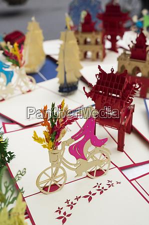 vietnam hanoi souvenir 3d paper cut