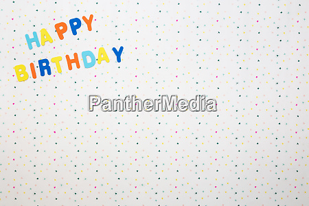 colorful happy birthday wishes with stars