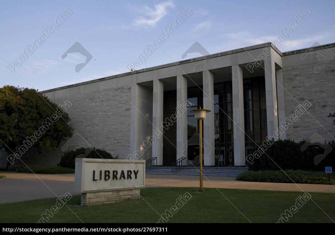 stati, uniti, kansas, abilene., la, biblioteca, eisenhower. - 27697311
