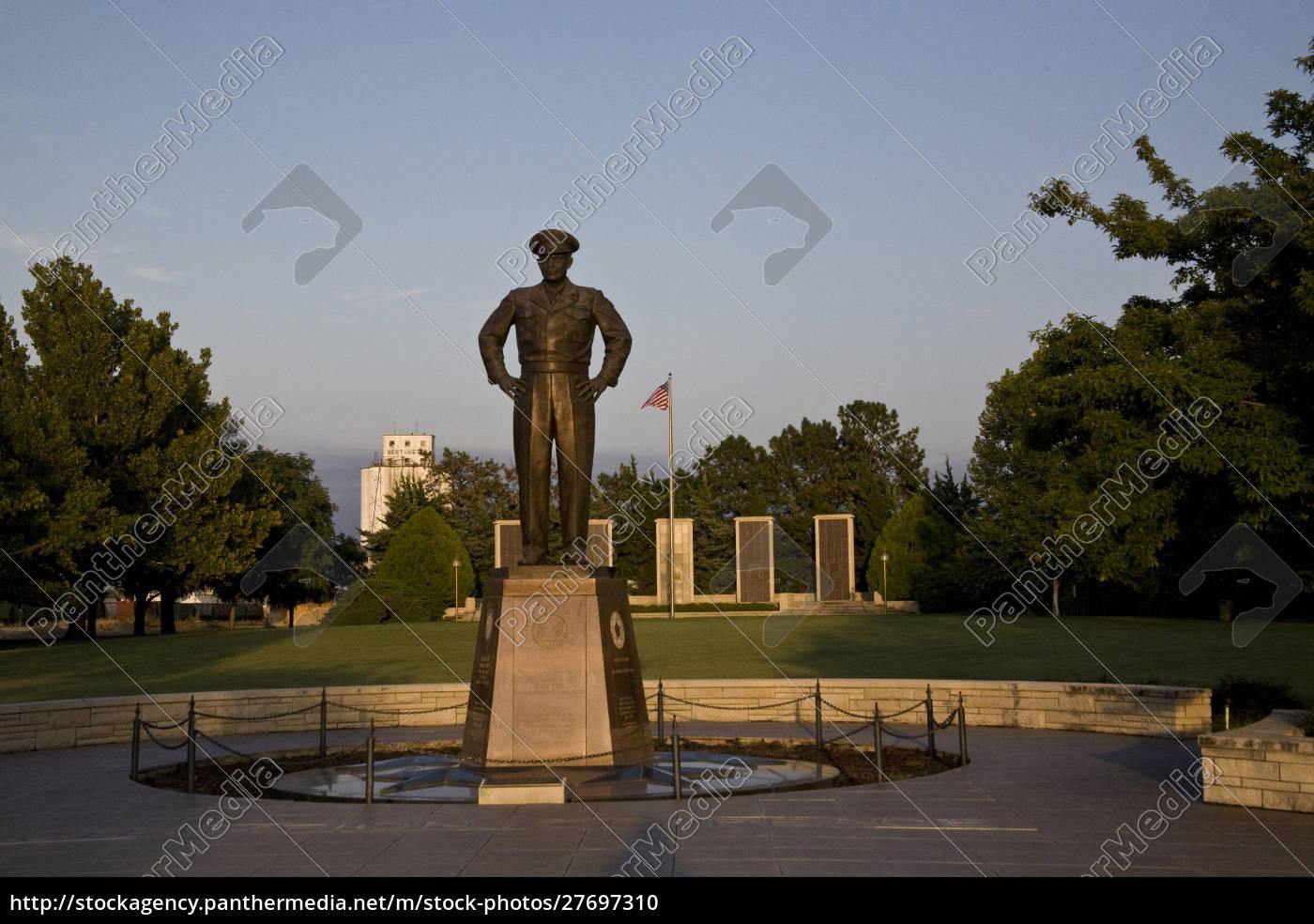 stati, uniti, kansas, abilene., un, monumento, a, dwight - 27697310