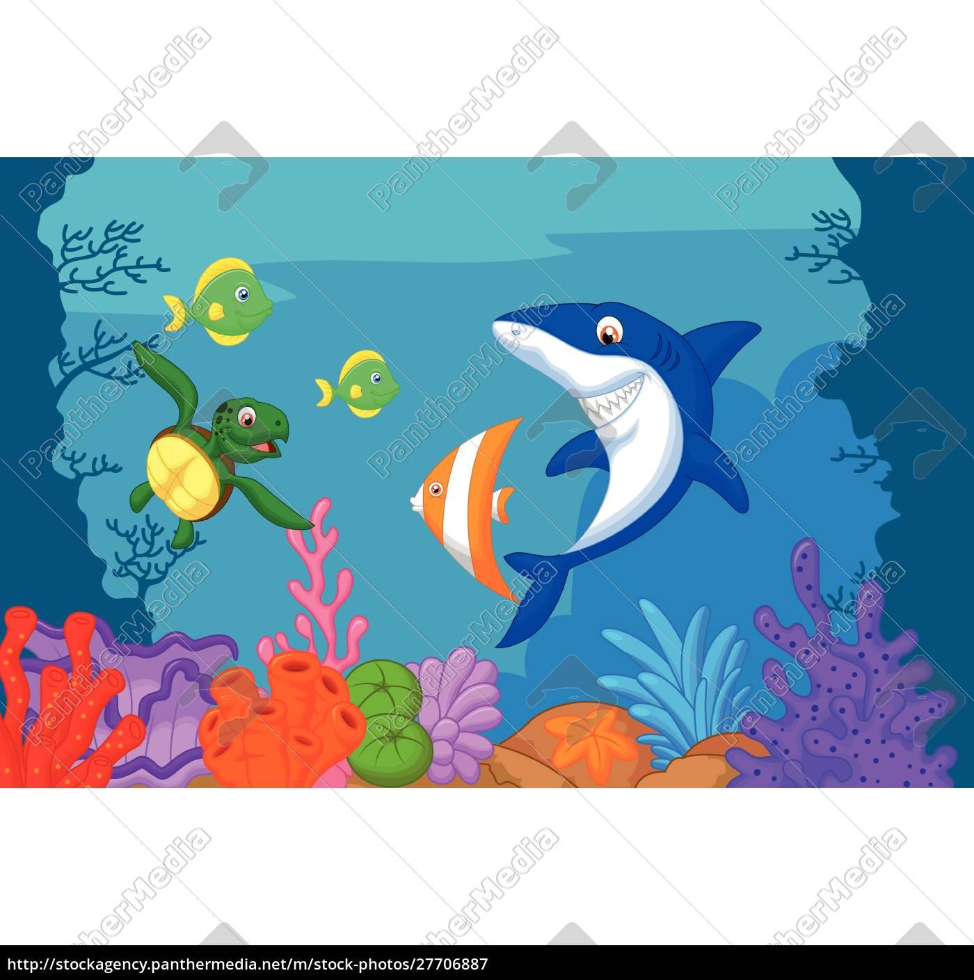 cartone, animato, sulla, vita, marina - 27706887