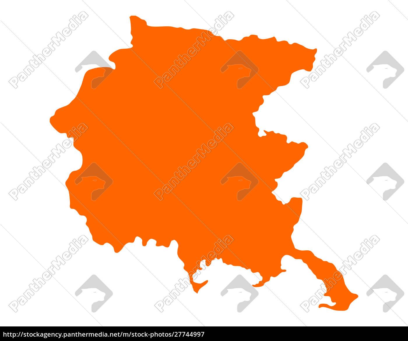 mappa, del, friuli-venezia, giulia - 27744997