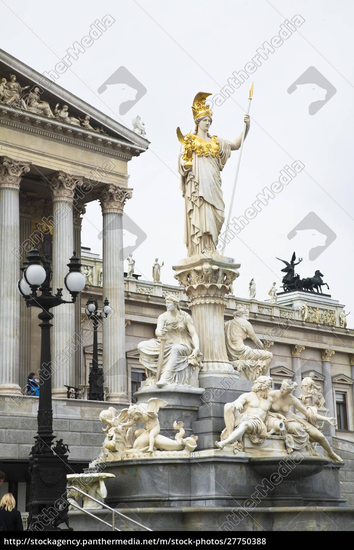 austria, vienna., una, statua, romanica, si, erge - 27750388