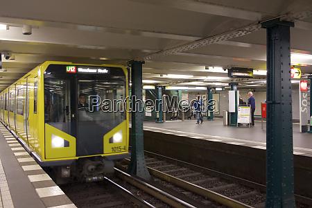 germany berlin subway train station