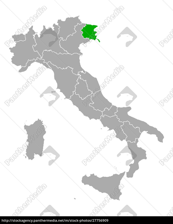 map, of, friuli-venezia, giulia, in, italy - 27756909