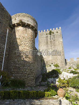 the castle historic small town obidos