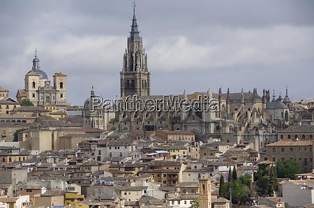 spagna, castilla-la, mancha, toledo., panoramiche, della, città, storica, cattedrale - 27764736