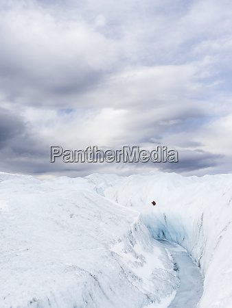 landscape on the greenland ice sheet