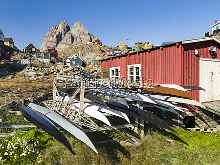 kayak on rack belonging t the