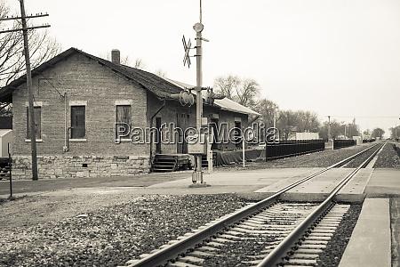 train station lincoln illinois usa route