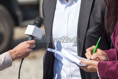news conference journalist