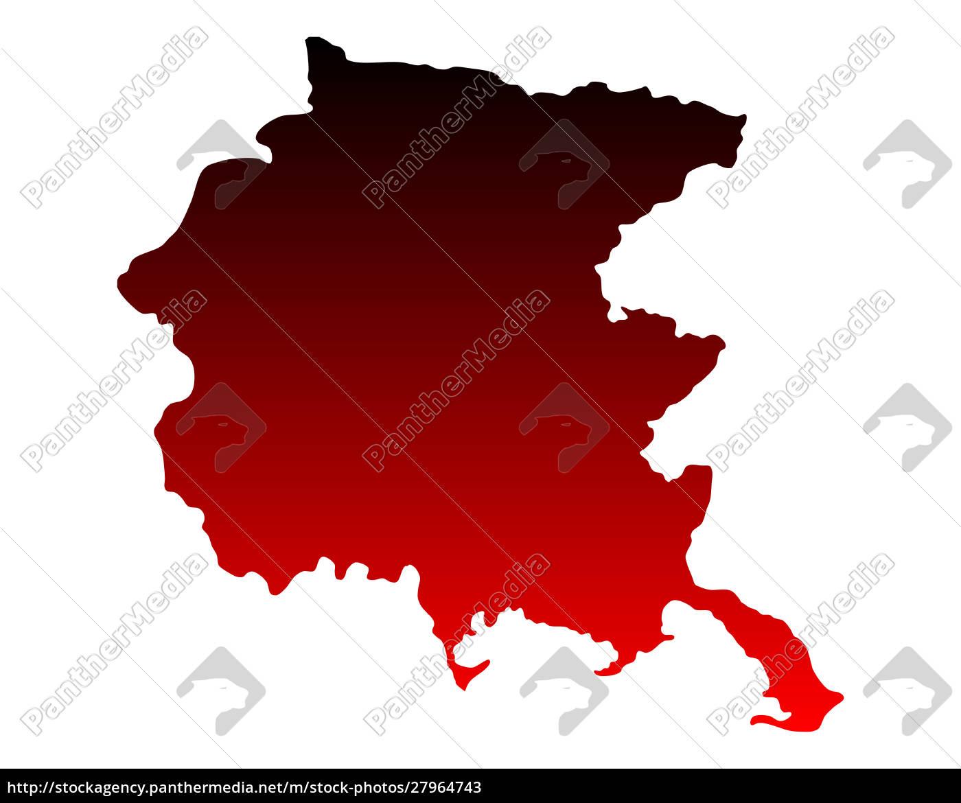 map, of, friuli-venezia, giulia - 27964743