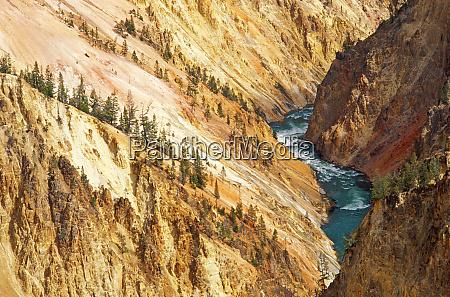 il fiume yellowstone e il canyon